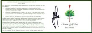 Justin Rose autographed 2013 U.S. Open Merion golf scorecard