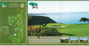 Justin Thomas autographed Torrey Pines South golf scorecard