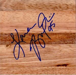Kara Braxton (Phoenix Mercury) autographed basketball 6x6 hardwood floor