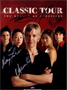 Karen Corr Allison Fisher Kelly Fisher Xiaoting Pan Ga Young Kim autographed 2009 WPBA billiards program