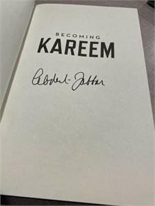 Kareem Abdul-Jabbar autographed KAREEM hardcover book