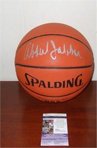 Kareem Abdul-Jabbar autographed Spalding NBA leather game model basketball (JSA)