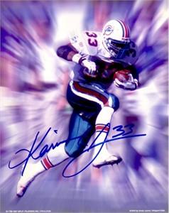 Karim Abdul-Jabbar autographed Miami Dolphins 8x10 photo