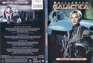 Katee Sackhoff autographed Battlestar Galactica DVD insert cover