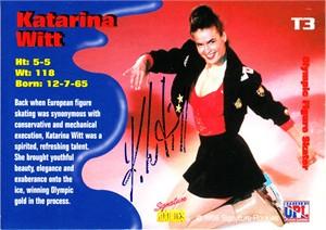 Katarina Witt certified autograph 1995 Signature Rookies figure skating card #510/1250