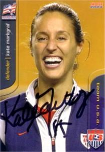 Kate (Sobrero) Markgraf autographed 2004 U.S. Soccer card