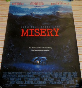 Kathy Bates autographed Misery full size 27x40 movie poster