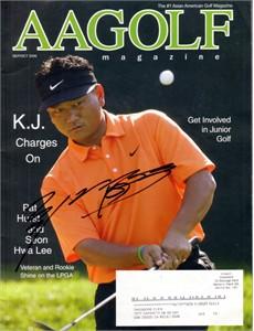 K.J. Choi autographed 2006 AAGolf magazine