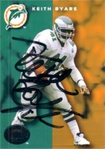 Keith Byars autographed 1993 SkyBox card