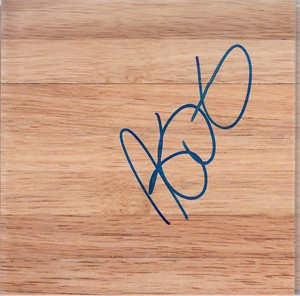 Kevin Durant autographed 6x6 basketball hardwood floor