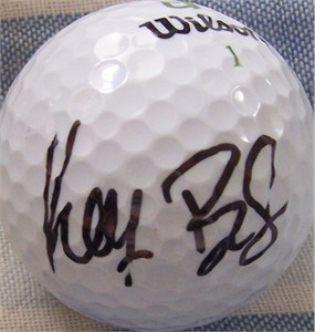 Keegan Bradley autographed golf ball