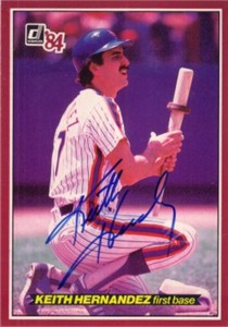 Keith Hernandez autographed New York Mets 1984 Donruss Action All-Stars jumbo card