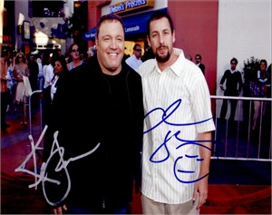 Kevin James & Adam Sandler autographed I Now Pronounce You Chuck and Larry 8x10 photo