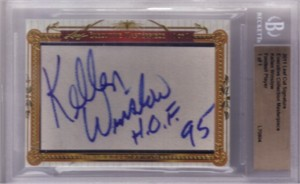 Kellen Winslow certified autograph 2011 Leaf Executive Masterpiece Cut Signature card #1/1