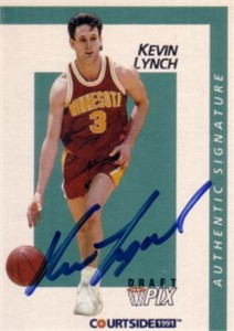 Kevin Lynch certified autograph Minnesota 1991 Courtside card
