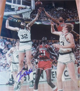 Kevin McHale autographed Boston Celtics 11x14 photo (smudged)
