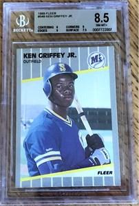Ken Griffey Jr. Seattle Mariners 1989 Fleer Rookie Card #548 BGS graded 8.5
