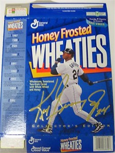 Ken Griffey Jr. Seattle Mariners 1996 Honey Frosted Wheaties box