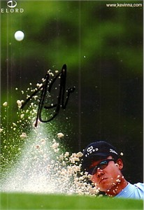 Kevin Na autographed 3x5 promo golf photo