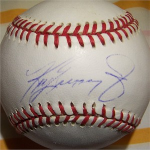Ken Griffey Jr. autographed Rawlings official AL baseball (light signature)