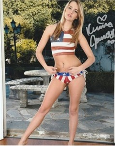 Kenna James autographed 8x10 bikini photo