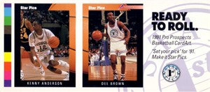 Kenny Anderson & Dee Brown 1991 Star Pics promo card panel
