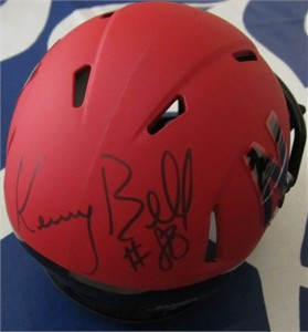 Kenny Bell autographed Nebraska Cornhuskers 2014 alternate red mini helmet