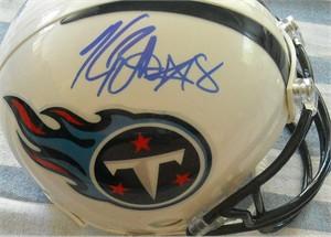 Kenny Britt autographed Tennessee Titans mini helmet