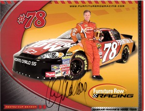 Kenny Wallace autographed Furniture Row Racing 2007 NASCAR photo card