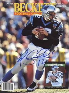 Kerry Collins autographed Carolina Panthers Beckett Football cover