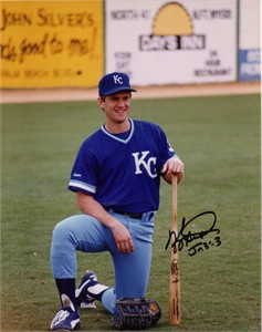 Kevin Seitzer autographed 8x10 Kansas City Royals photo