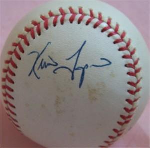 Kevin Tapani autographed AL baseball