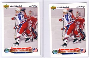 Keith Tkachuk lot of 2 1991-92 Upper Deck Rookie Cards (#698) MINT