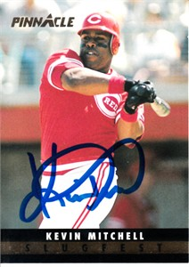 Kevin Mitchell autographed Cincinnati Reds 1993 Pinnacle Slugfest card (MLB authenticated)