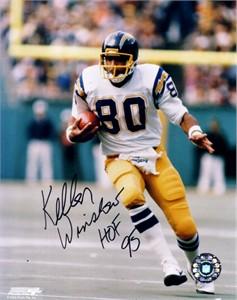 Kellen Winslow autographed San Diego Chargers 8x10 photo