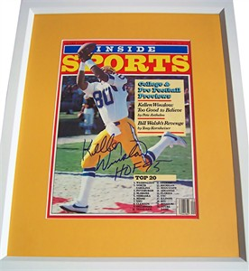 Kellen Winslow autographed San Diego Chargers 1982 Inside Sports magazine cover matted & framed