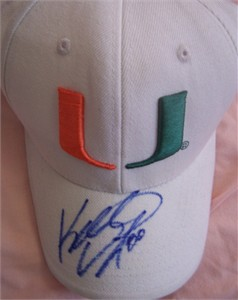 Kellen Winslow Jr. autographed Miami Hurricanes cap or hat