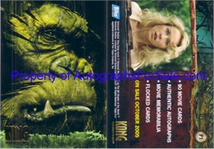 King Kong movie 2005 Topps promo card P1