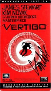 Kim Novak autographed Vertigo VHS video