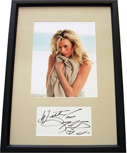 Kim Basinger autograph framed with sexy 8x10 photo