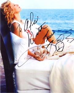 Kim Basinger autographed sexy 8x10 photo (to Alex)