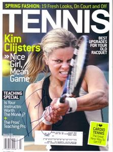 Kim Clijsters autographed 2006 Tennis magazine