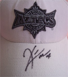 Kirk Morrison autographed San Diego State Aztecs cap or hat