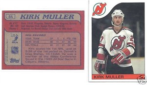 Kirk Muller Devils 1985-86 Topps Rookie Card #84