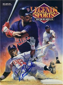 Kirby Puckett autographed Minnesota Twins 1993 Legends magazine