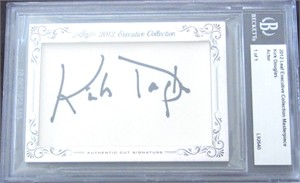 Kirk Douglas certified autograph 2012 Leaf Executive Masterpiece Cut Signature card #1/1