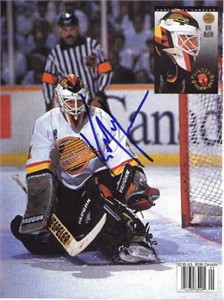 Kirk McLean autographed Vancouver Canucks Beckett Hockey back cover