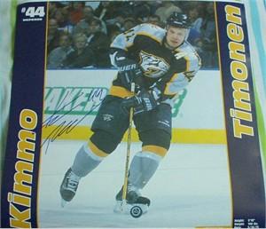 Kimmo Timonen autographed Nashville Predators calendar page photo