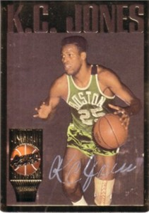 K.C. Jones certified autograph Boston Celtics Action Packed Hall of Fame card