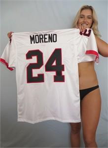 Knowshon Moreno 2007 Georgia Bulldogs authentic Nike stitched white jersey NEW